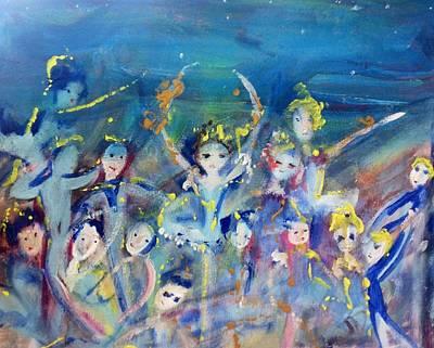 Elementals On The Beach Ballet Art Print by Judith Desrosiers