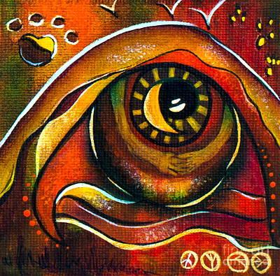 Elementals Spirit Eye Art Print by Deborha Kerr