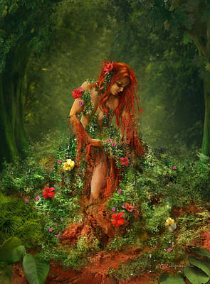 Fantasy Tree Art Digital Art - Elements - Earth by Cassiopeia Art