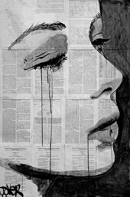 Tears Drawing - Elements by Loui Jover