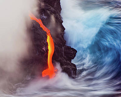 Volcano Wall Art - Photograph - Elements Of Nature by Andrew J. Lee