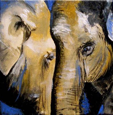 Painting - Elephant 2 by Anne Gardner