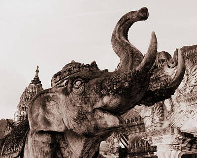 Photograph - Elephant Architecture by Ramona Johnston