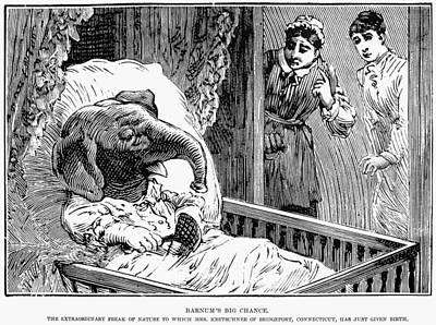 Cripple Painting - Elephant Boy Hoax, 1887 by Granger