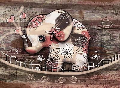 Art For Children Digital Art - Elephant Bridge by Karin Taylor