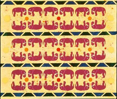Painting - Elephant Dance by Karen Buford