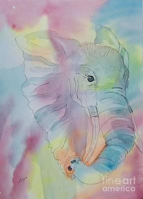 Painting - Elephant Dream by Ellen Levinson