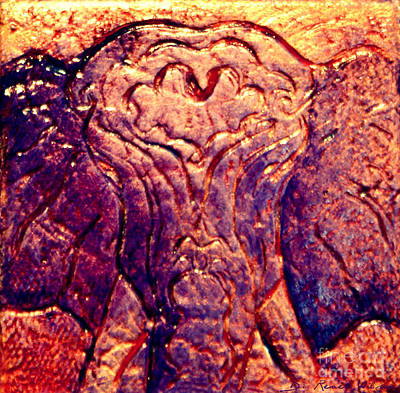 Copper Sunset Mixed Media - Elephant Dreams by D Renee Wilson