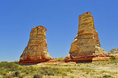 Scenic Photograph - Elephant Feet Rocks Arizona by Christine Till