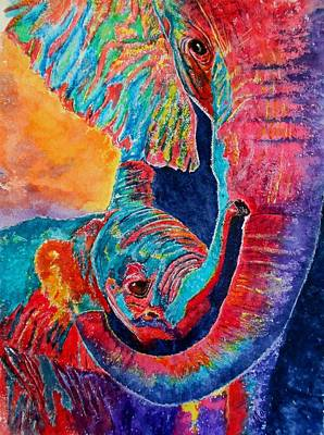 Painting - Elephant Hug by Maris Sherwood