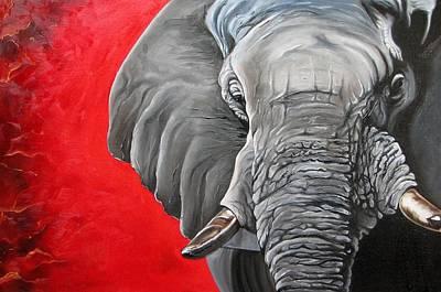 Elephant Art Print by Ilse Kleyn
