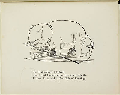 Edition Photograph - Elephant In Row Boat by British Library