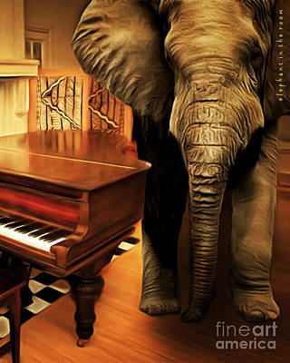 Photograph - Elephant In The Room 20141225 Vertical by Wingsdomain Art and Photography