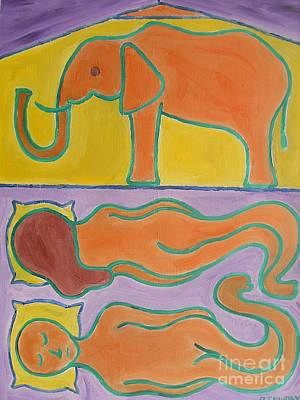 Elephant In The Room Art Print by Patrick J Murphy