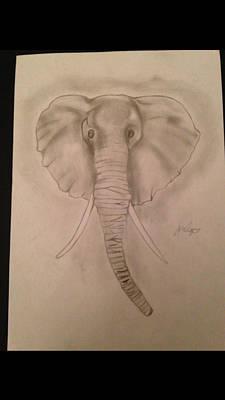 Elephant Original by  Jessica Hope
