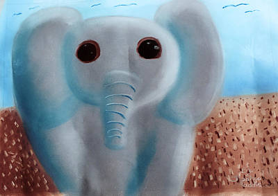 Pastel - Animalart Elephant by Joshua Maddison