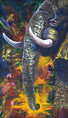 Elephant Art Print by Kd Neeley
