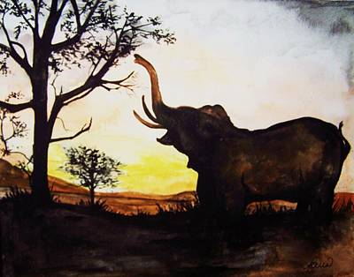 Painting - Elephant by Laneea Tolley