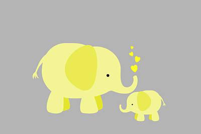 Elephant Love Art Print by Chastity Hoff
