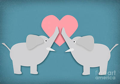 Photograph - Elephant Love by Sharon Dominick