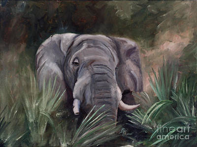 Painting - Elephant Portrait by Brenda Thour