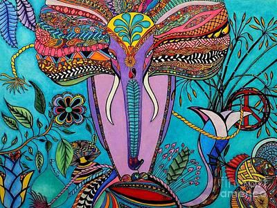 Thomas Kinkade - Elephant by Rebeca Rambal