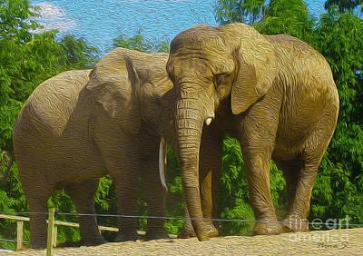 Photograph - Elephant Snuggle by Nina Silver