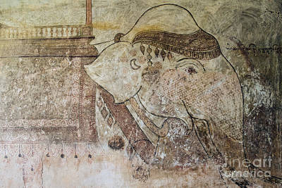 Photograph - Elephant Temple Fresco by Dean Harte