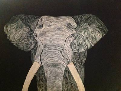 Black Tusk Painting - Elephant Tusk by Bonnie Boerger
