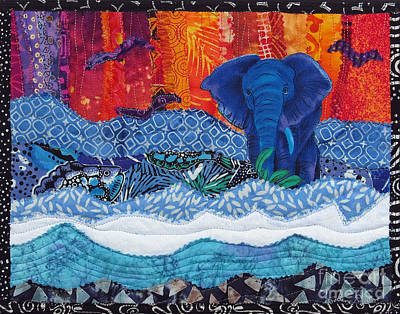 Tapestry - Textile - Elephant Walk by Susan Rienzo