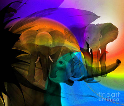 Elephant Walk Art Print by Sydne Archambault
