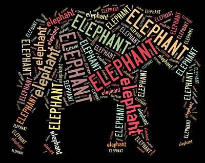 Elephant Wall Art Art Print by Linda Brown