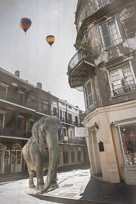 Elephants In The City Art Print by Alicia Morales