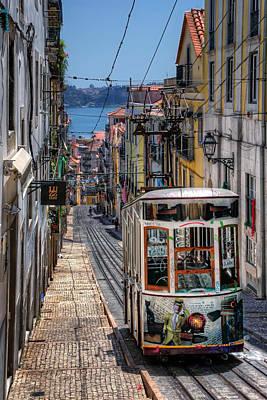 Elevador Da Bica Lisbon Art Print