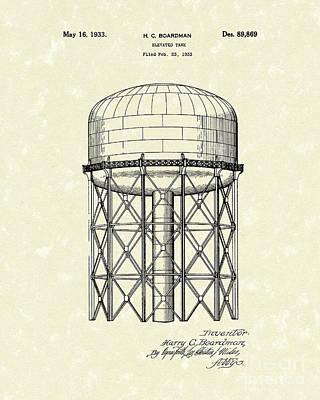 Elevated Tank 1933 Patent Art Art Print