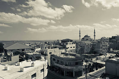 Madaba Photograph - Elevated Town View With Mosque, Madaba by Panoramic Images
