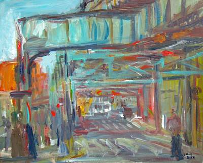 Painting - Elevated Tracks 1 by Edward Ching