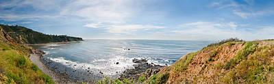 Elevated View Of A Coast, Palos Verdes Art Print