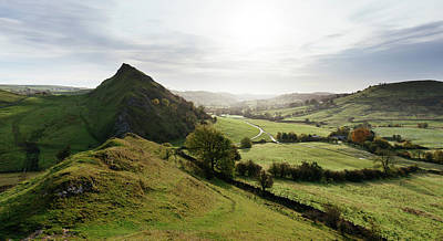 Peak District Photograph - Elevated View Of A Landscape by Panoramic Images