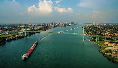 Ambassador Photograph - Elevated View Of Ambassador Bridge by Panoramic Images