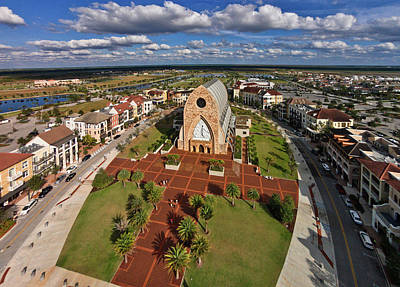 Collier Photograph - Elevated View Of Ave Maria Oratory by Panoramic Images