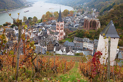 Elevated View Of Bacharach Art Print