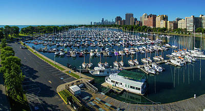 Belmont Photograph - Elevated View Of Belmont Yacht Club by Panoramic Images