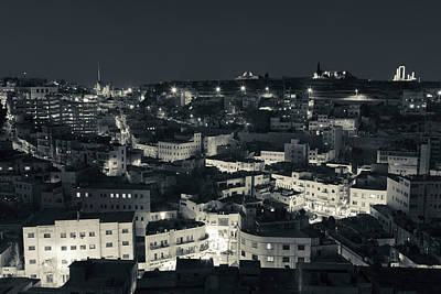 Jordan Photograph - Elevated View Of Central Amman by Panoramic Images