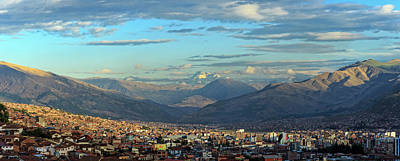 Cusco Photograph - Elevated View Of Cityscape, Cusco City by Panoramic Images