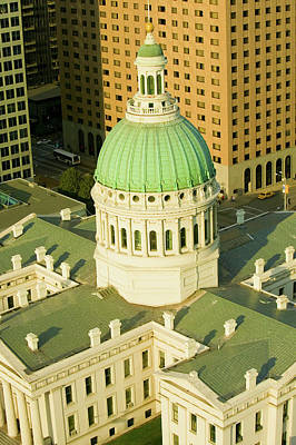 Historic Site Photograph - Elevated View Of Dome Of Saint Louis by Panoramic Images