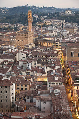 Architecture Photograph - Elevated View Of Florence by Liz Leyden