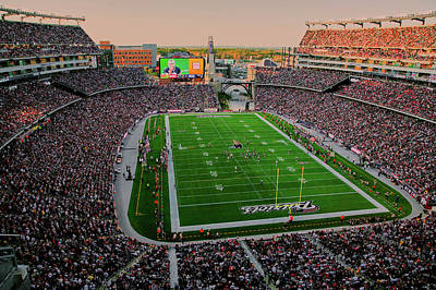 Bleachers Photograph - Elevated View Of Gillette Stadium, Home by Panoramic Images