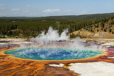 Elevated View Of Grand Prismatic Art Print