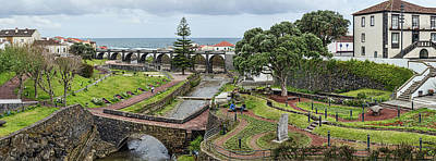 Sao Miguel Island Photograph - Elevated View Of Historic Bridge by Panoramic Images